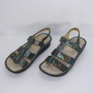 ALEGRIA KLE 679 KLEO ABALONE ROSE SANDALS 39 MINT